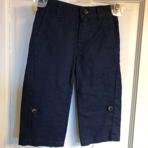 Janie and Jack Navy Linen Pants